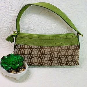 Tommy Hilfiger green mini purse